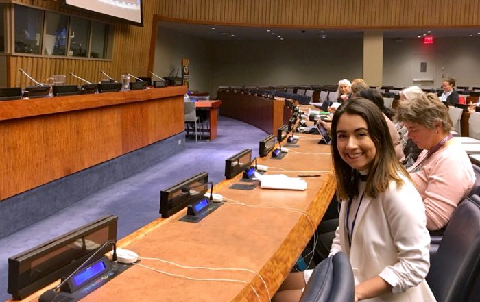 Maria Gonzalez '19 at the United Nations