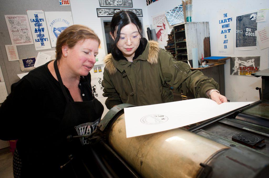 Printmaking demonstration