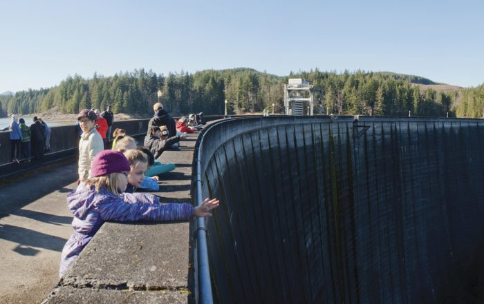 Third graders at Alder Dam in Washington