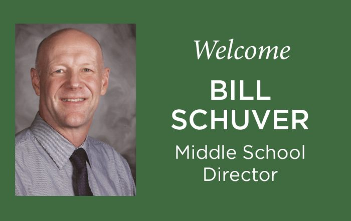 Bill Schuver Middle School Director Charles Wright Academy