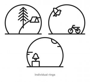 individual bike rack ring drawings