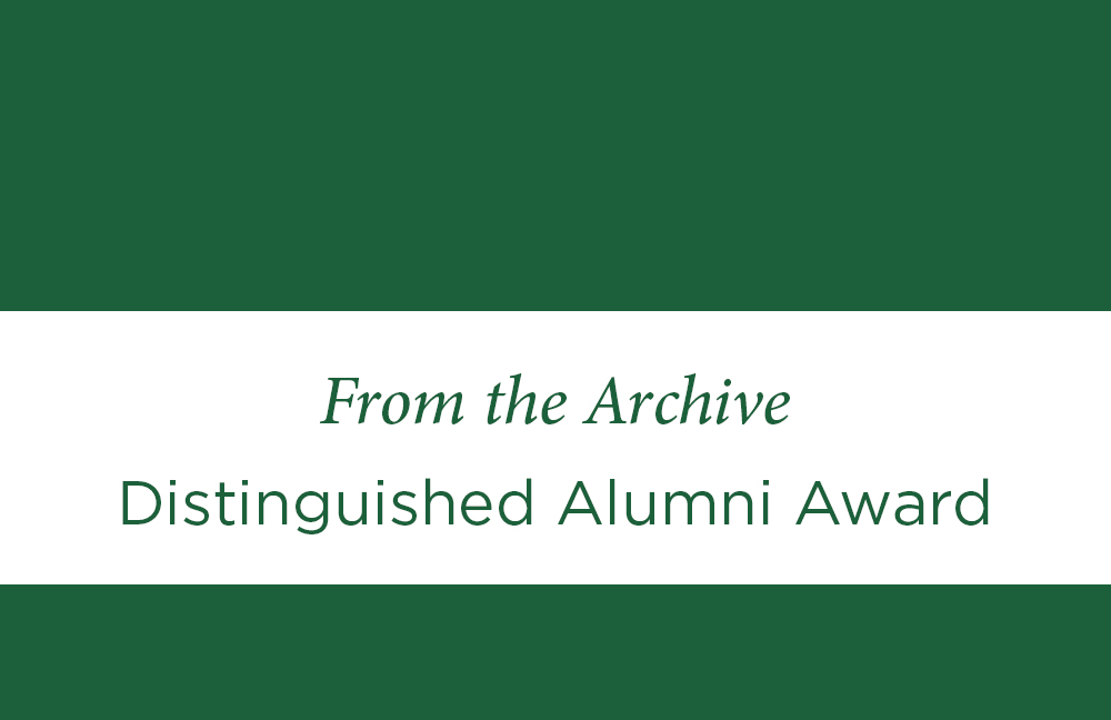 Distinguished Alumni Award header