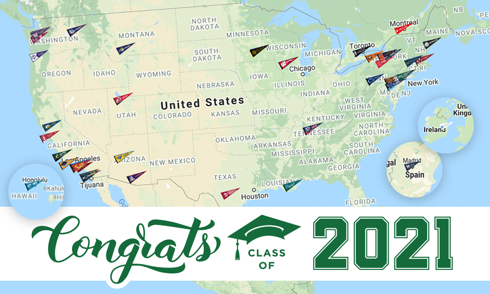 Class of 2021 College Map